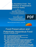 Potentially Hazardous Food