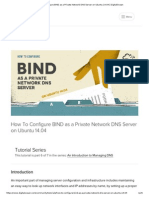 How to Configure BIND as a Private Network DNS Server on Ubuntu 14