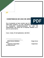 certificado de amoladora