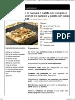 Cannelloni Ripieni Di Baccalà e Patate Con Vongole e Pomodorini (Canelones de Bacalao y Patata Con Salsa de Tomate y Almejas)