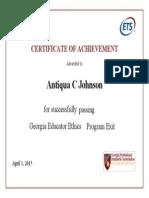 ethichs exam certificate