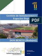 GESTIÓN DE INSTALACIONES Y ESPACIOS DEPORTIVOS DE DON BENITO, EXTREMADURA.