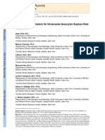 Morphology Parameters for Intracranial Aneurysm Rupture Risk