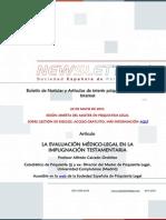 Newsletter Boletín Española de Psiquiatría Legal, Abril 2015