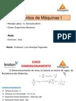 Elementos de Máquinas I - Aula ExercÃ-cio Eixos - Engª Mecânica