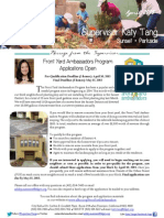Supervisor Tang's April Newsletter English