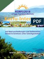 KORFU-2018 Urlaubsseminare mit Matrix und Quantenheilung und Seelenreisen