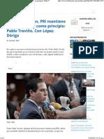 01-04-15 Hay recaudación, PRI mantiene disciplina fiscal como principio