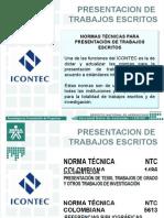 Presentacion Normas Icontec Para La Presentacion de Trabajos Escritos