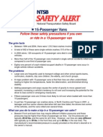 NTSB Alert on 15 passenger vans