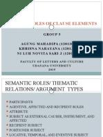Presentation Semantic Roles SYNTAX