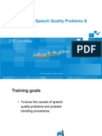 GSM Network Speech Quality Problems & Solutions