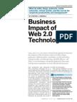 Business Impact of Web 2.0 Technologies