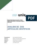 analisis de 2 articulos cientificos