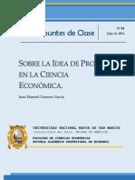 Sobre la idea de proceso en la ciencia económica