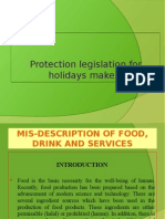 Protection Legislation for Holiday Makers