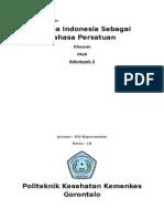 Bahasa Indonesi Sebagai Bahasa Persatuan