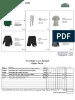 2015 Dover Baseball Clothing