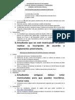 Proceso de Matriculacion e Inscripcion 2014
