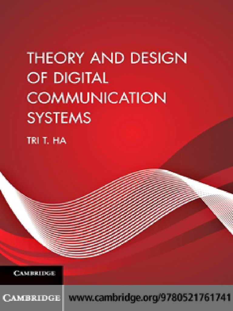Theory and design of digital communication systems by tri t ha theory and design of digital communication systems by tri t ha modulation forward error correction fandeluxe Gallery
