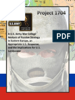 Analysis of Russian Strategy in Eastern Europe