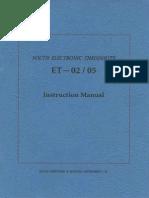 Manual Teodolito South Et Ing