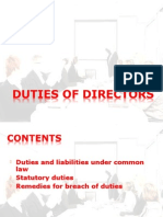 duties of directors in Corporate Law