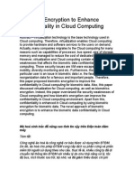 Biometric Encryption to Enhance Confidentiality in Cloud Computing