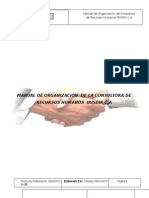 Manual de Organización de La Consultora de RRHH