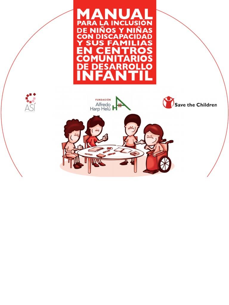 Manual para la inclusión de niños y niñas con discapacidad y sus ...