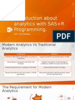 Introduction about analytics with SAS+R Programming
