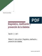 Diagnostico, Clasificación y Prevención de la Diabetes