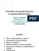 Columbia University Seminar in Applied Mathematics