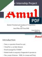 Summer internship report - AMUL (Marketing)