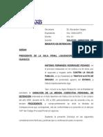 VARIACION DE MANDATO DE DETENCION Y OTROS.doc