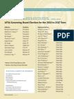 2015 AFSA Candidate Statements