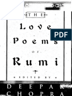The Love Poems of Rumi Translated by Deepak Copra