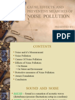 cause effect and preventive measures of Noise pollution