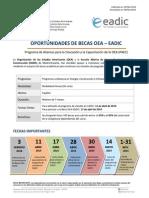 OAS Scholarship Program for Education and Training - PAEC_OEA-EADIC_2014