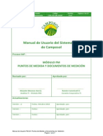 Manual de Usuario PM-041 Puntos de Medida y Documentos de Medición