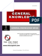 General Knowledge MCQS With Answers