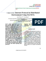 Voice over Internet Protocol in Distributed Environment Using MANETs