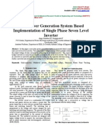 Solar Power Generation System Based Implementation of Single Phase Seven Level Inverter