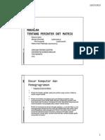 18 Printer Dot Matrix