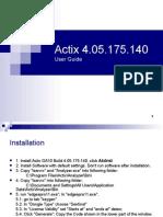 Actix User Guide