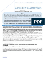 Cultural Perception of the Sport Experience and Temporal Behavior of Tunisian Players Volleyball