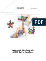 HyperMesh 12.0 Tutorials-ANSYS