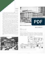 Arhitectura R.P.R. Nr. 5 Pe 1963 (Anul XI - Nr. 84) Pg. 41- 45 Bucuresti - Rest. Feroviarul Si Magazine Pe Cal. Grivitei