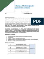 Physique Et Technologies Des Rayonnements Nucleaires