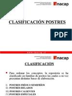 CLASIFICACION POSTRES